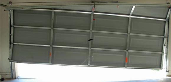 Garage door on angle